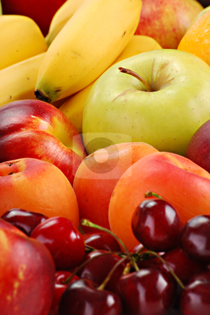 Composition with fresh fruits stock photo, Variety of fresh fruits by tofino