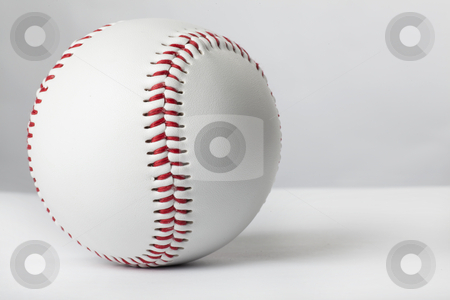 Baseball ball on the white table stock photo, Baseball ball on the white table by tomwang