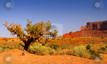 Desert landscape stock photo, Desert landscape in Monument valley in Arizona by Sreedhar Yedlapati
