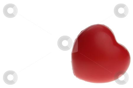 Heart shaped antistress ball stock photo, Heart shaped antistress ball isolated on white by Piotr_Marcinski