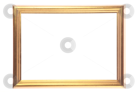 Picture gold frame stock photo, Picture gold frame isolated on white background by Piotr_Marcinski