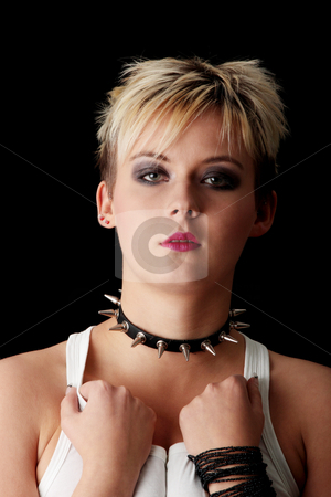 Punk stock photo, Punk girl isolated on black background by Piotr_Marcinski