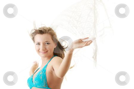 Summer girl in bikini stock photo, Summer girl in bikini isolated on white background by Piotr_Marcinski