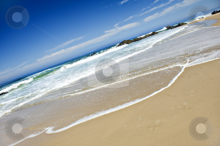 Empty beach on a beatiful tropical island stock photo, Empty beach on a beatiful tropical island by tish1