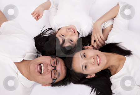 Happy asian family stock photo, Happy asian family by tomwang