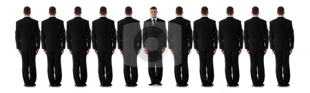 Individuality stock photo, Business individuality concept over white background.  by Piotr_Marcinski