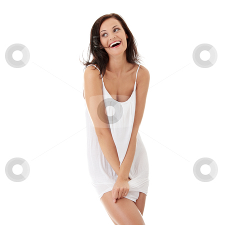 Young sexy woman stock photo, Young sexy woman isolated on white background.  by Piotr_Marcinski