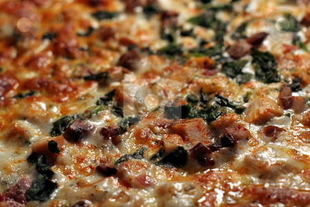 Mediterranen Pizza Up Close stock photo, A close up of mediterranean pizza, shot with a shallow depth of field. by Chris Hill