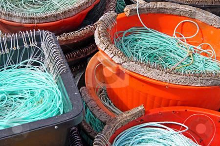 Colourful Fishermen ropes stock photo, Colourful Fishermen ropes for line fishing by Neonn