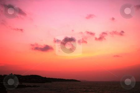 Sunset at seashore stock photo, Sunset at seashore by John Young