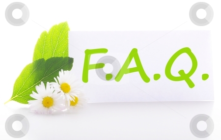 Faq stock photo, faq concept with word on nature still life by Gunnar Pippel