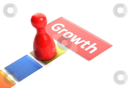 Growth stock photo, growth word showing financial success business concept by Gunnar Pippel