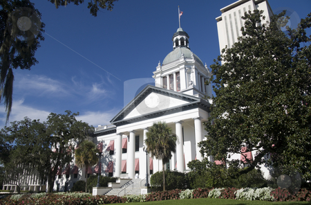 Florida capital building stock photo, old florida capital building with new complex tower by Lee Barnwell