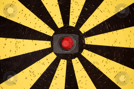 Dartboard target stock photo, Old dartboard target detail. Abstract background pattern. by sirylok