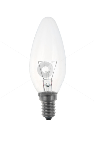 Light bulb stock photo, Light bulb isolated on white background. by Homydesign