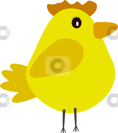 Chicken illustration  stock photo, a cute chick /easter illustration  by lizapixels
