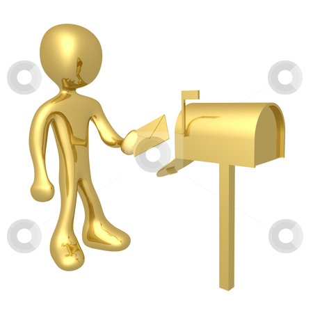 Mailbox stock photo, computer generated 3d image - mailbox . by Konstantinos Kokkinis