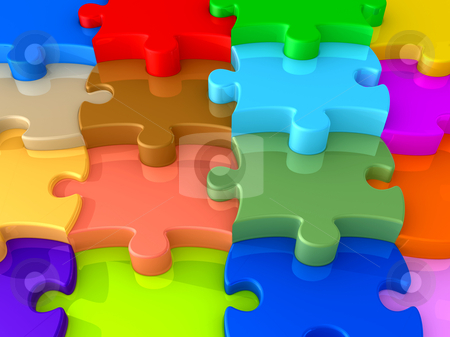 Puzzle Background stock photo, Computer Generated Image - Puzzle Background . by Konstantinos Kokkinis