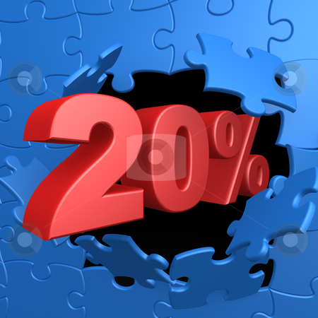 20% Off stock photo, Computer Generated Image - 20% Off. by Konstantinos Kokkinis