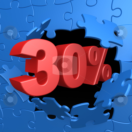 30% Off stock photo, Computer Generated Image - 30% Off . by Konstantinos Kokkinis