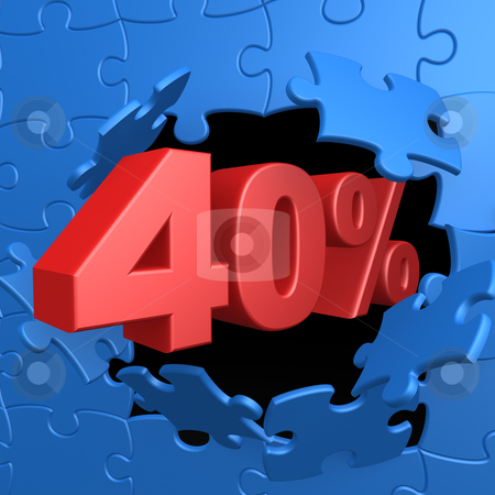 40% Off stock photo, Computer Generated Image - 40% Off . by Konstantinos Kokkinis
