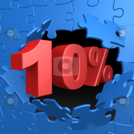 10% Off stock photo, Computer Generated Image - 10% Off . by Konstantinos Kokkinis