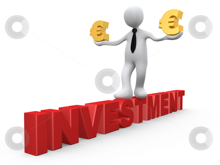 Investment in Euro stock photo, Computer Generated Image - Investment in Euro. by Konstantinos Kokkinis