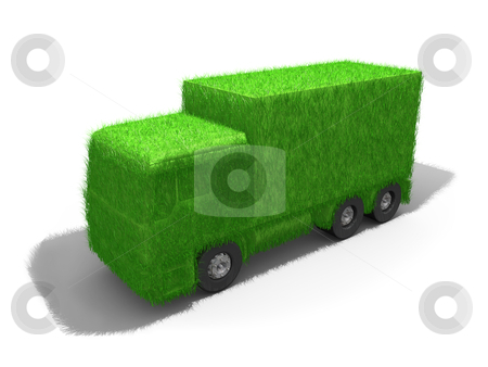 Green Truck stock photo, Computer Generated Image - Green Truck . by Konstantinos Kokkinis