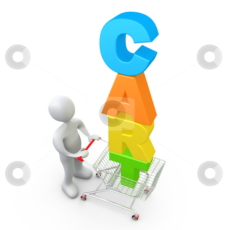 Shopping Cart stock photo, Computer Generated Image - Shopping Cart . by Konstantinos Kokkinis