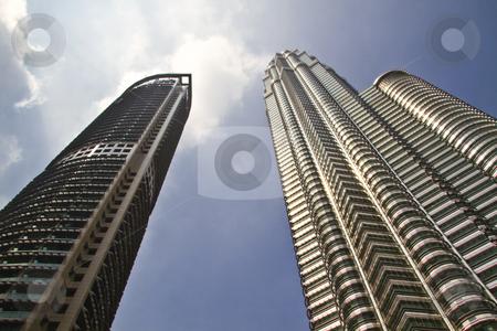 Modern skyscraper buildings in Malaysia stock photo, Beautiful modern skyscraper buildings in Malaysia by Ingvar Bjork