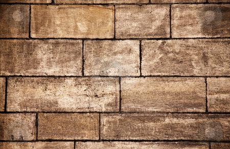 Old bricks wall background stock photo, Texture of old bricks wall background by Ingvar Bjork