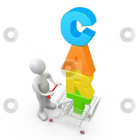 Shopping Cart stock photo, Computer Generated Image - Shopping Cart . by Konstantinos Kokkinis