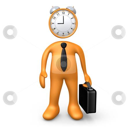 Time For Work stock photo, Computer Generated Image - Time For Work . by Konstantinos Kokkinis