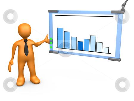 Statistics stock photo, Computer Generated 3D Image - Statistics . by Konstantinos Kokkinis