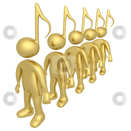 Music People stock photo, Computer Generated Image - Music People .  by Konstantinos Kokkinis