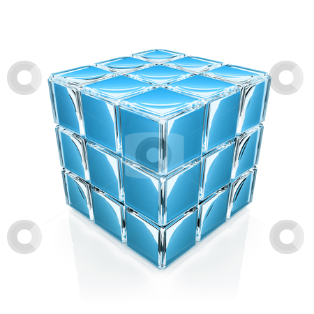 Glass Cube stock photo, Computer Generated Image - Glass Cube . by Konstantinos Kokkinis