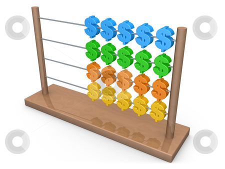 Dollar Abacus stock photo, Computer Generated Image - Dollar Abacus . by Konstantinos Kokkinis
