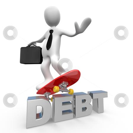 No More Debt stock photo, Computer Generated Image - No More Debt . by Konstantinos Kokkinis