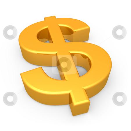 Dollar Symbol stock photo, Computer Generated Image - Dollar Symbol . by Konstantinos Kokkinis