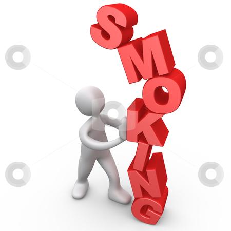 Resist Smoking stock photo, Computer Generated Image - Resist Smoking . by Konstantinos Kokkinis