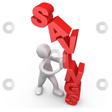 Savings stock photo, Computer Generated 3D Image - Savings by Konstantinos Kokkinis