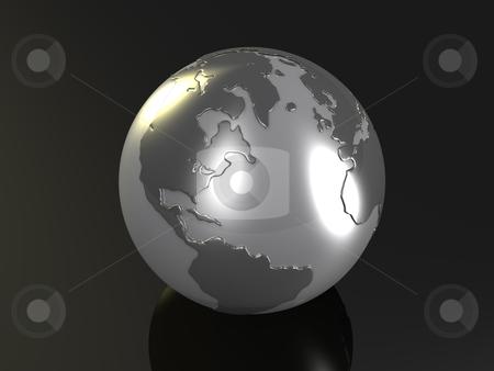 Globe stock photo, Computer Generated 3D Image - Globe . by Konstantinos Kokkinis