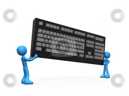 New Keyboard stock photo, Computer Generated Image - New Keyboard . by Konstantinos Kokkinis