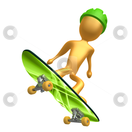 Skateboarding stock photo, Computer generated 3d image - Skateboarding . by Konstantinos Kokkinis