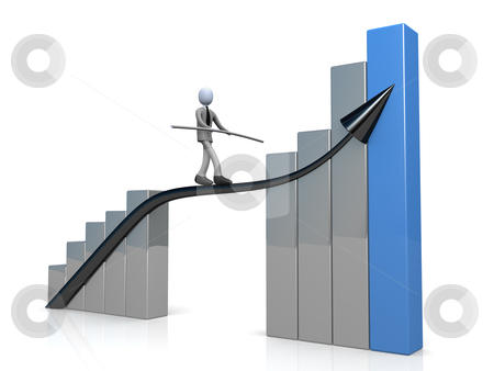 Success In Business stock photo, Computer generated image - Success In Business. by Konstantinos Kokkinis