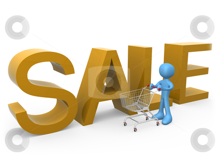 Shopping on Sales stock photo, Computer generated image - Shopping On Sales. by Konstantinos Kokkinis