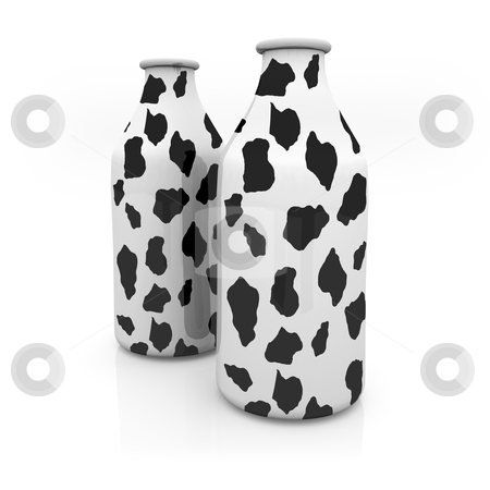Milk stock photo, Computer generated 3d image - Milk by Konstantinos Kokkinis
