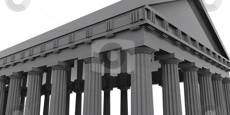 Temple stock photo, Computer generated 3d image - Temple . by Konstantinos Kokkinis