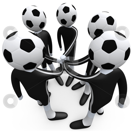Sports Team stock photo, Members of a team putting their hands together. by Konstantinos Kokkinis