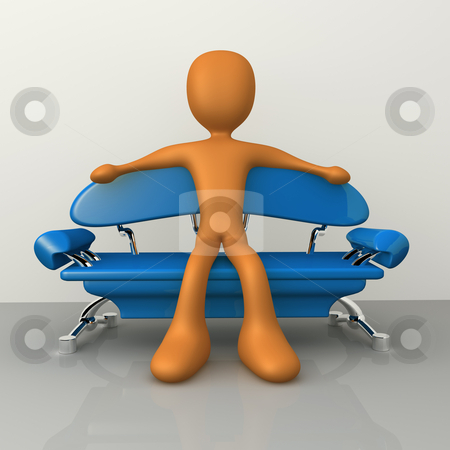 Relaxation stock photo, 3d person relaxing on a modern sofa . by Konstantinos Kokkinis